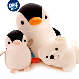 Wholesale Polar Stuff - Stuffed plush sea animals foam particles doll penguin polar bear plush doll children's gift