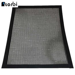 Wholesale use grill - BBQ Grill Mesh Teflon Non-Stick Heat Resistance Improve Thermal Conductivity Mats Use on Gas, Charcoal Electric Barbecue