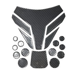 Wholesale motorcycle headlight stickers - Motorcycle decorative stickers tank stickers carbon fiber personality reflective three-dimensional 3D universal fit for yanaha kawasaki