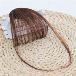 DHL-наращивание волос челка синтетические волосы бесшовные челка коричневые черные волосы на висках от Поставщики кожаное освещение