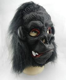Wholesale Vampire Masks - Scary Halloween Cosplay Black Gorilla Mask Horror Ghost Mask Design High Grade Latex Vampire Anonymous