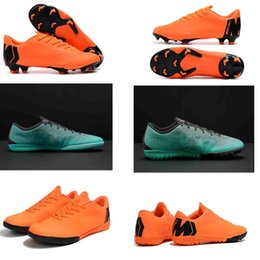 Wholesale Club Creams - 2018 Mercurial VaporX XII 12 Academy CR7 Cristiano Ronaldo TF IC Club Superfly Soccer Shoes generation Football Cleats Soccer 360 Elite