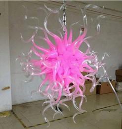 Canada Lustre en cristal de verre soufflé avec bouche de couleur rose fantaisie couleur de la bouche avec des lumières LED lustre à chaîne longue luminaires cheap fancy long chain Offre