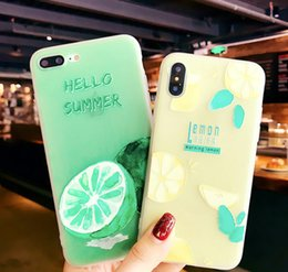 модели мобильных телефонов sony ericsson Скидка Небольшие свежие фрукты лимон 7plus мобильный телефон случае IPX анти-падение личности 6 S мягкая оболочка творческий женский модель 8p