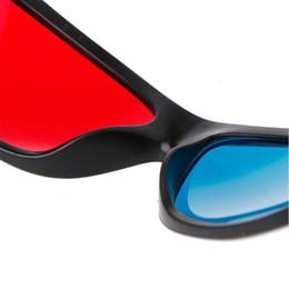 Argentina Marco blanco Universal rojo azul Anaglifo 3D Gafas para el juego de película DVD Video TV Suministro