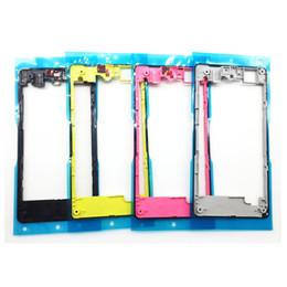 sony xperia z1 pièces Promotion Nouveau qualité pour Sony Xperia Z1 Compact Z1 Mini D5503 arrière logement arrière cadre lunette plaque de rechange de rechange