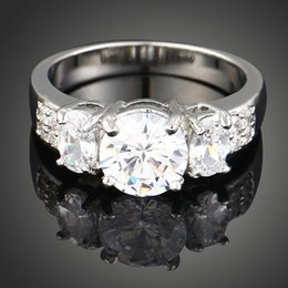 Wholesale Married Rings - New arrival women fashion jewelry royal diamond mounted alloy princess zirconium marry ring Love Valentine's day Christmas festival gift
