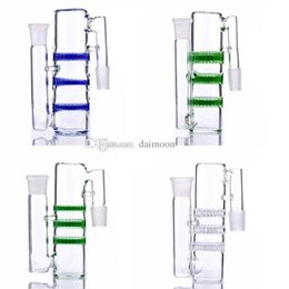 Wholesale higher sales - hot sale Ash catcher 18.8-18.8 triple HC three honeycombs glass ash catchers 14-14mm high quality for glass bongs