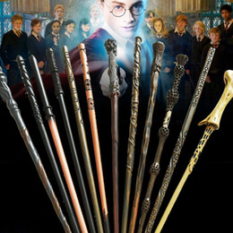 Wholesale cosplay toys - Harry Potter Magic Wand with Ollivanders Wand Box 48 Roles Hermione Voldermort Magic Wands with Metal Core Halloween Cosplay Novelty Toy