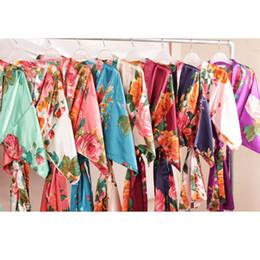 9a7e3ef8ac Floral satin supper soft robe wedding bridal party gift robe lady night  gown sleepwear bath