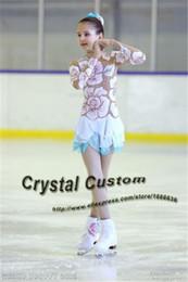 Robe de compétition de patinage artistique pour filles en Ligne-Personnalisé Filles Glace Figure Patinage Robe Gracieuse Nouvelle Marque Enfants Robes De Patinage Compétition DR3430