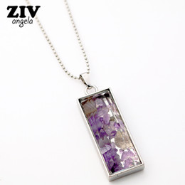 Wholesale Fluorite Crystal Necklace - whole saleNew Natural Fluorite Crystal Stone Beads Chip Clear Glass rectangle Wish Box Wishing Bottle Charms Pendant Necklace Jewelry