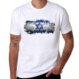 2019 bandiere israeliane Israel Flag T Shirt Uomo Moda Estate Manica corta Girocollo Design Divertente T-shirt Stampa Israele Bandiera Uomo Abbigliamento bandiere israeliane economici