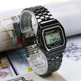 3165cde698c5 2019 retro gold digital watch Rose Gold Silver Watches Hombres Reloj  Electronic Display Digital Retro Style