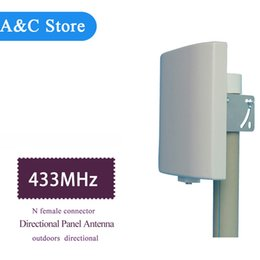 Wholesale Rfid Uhf Antennas - Factory outlet UHF 433MHz antenna directional Wall Mount Patch Panel Flat Antenna high gain N-Female Rfid