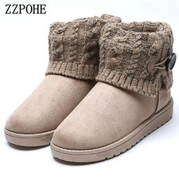 Wholesale Comfortable Platform Boots - ZZPOHE 2017 Winter Women Snow Boots Woman Warm Flat Platform Ankle Boots Female Non-slip Comfortable cotton shoes free shipping