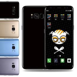 6.2Inch Goophone S8 + S8 Plus teléfono inteligente MTK6580 Quad Core 1G / 8G Curve Screen Show 4G / 128G teléfono barato desde fabricantes