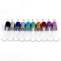 Venta caliente Mini 10 ml de metal Vacío Perfume de Cristal Botella Rellenable Atomizadores de Perfume Botellas de DHL / EMS / Fedex Envío Gratis 10 colores desde fabricantes
