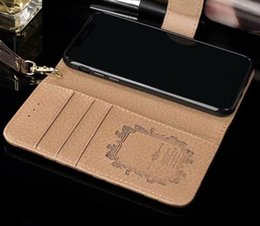 galaxy note phone wallet case leather Promo Codes - 2018 Newest Paris Fashion Show Phone Case For Iphone X 8 8Plus 7 6 6S Plus Iphone Cases PU Luxury Leather Case Cover For Galaxy S9 S8 Plus