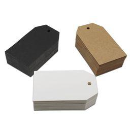Papier kleidung tags online-200 Teile / los 4 * 7 cm Kraftpapier Hochzeit Grußkarten Kleidung Preis Hängende Tag Handwerk Papier DIY Handwerk Dekoration Label