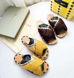 Wholesale crossover ties - 2018 Summer fashion MULE Sheep Fur SANDAL Crossover woman flat FUSSBETT slipper