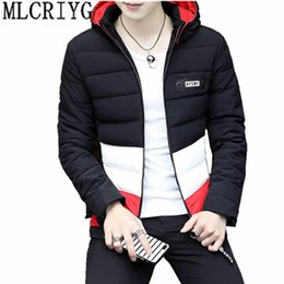 7dd28b874dc6c 2018 Casual Men s Winter Jacket Hooded Short Parka Coat For Men Warm Cotton  Padded Overcoat Man Clothes casaco masculino YQ077 D18100904