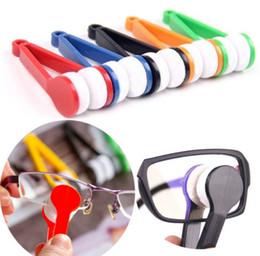 Lunettes de soleil lunettes microfibre brosse de nettoyage lunettes de verre en verre lentille lentille poignée en plastique nettoyage lingettes brosse plus propre ? partir de fabricateur