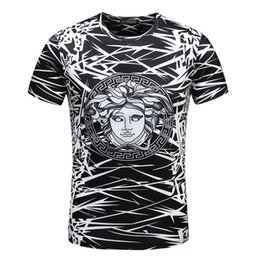 Wholesale Funny Fit - 18ss ver men luxury Slim Fit Short Sleeve Tshirt fashion t-shirts men funny t shirts brand cotton tops and tees