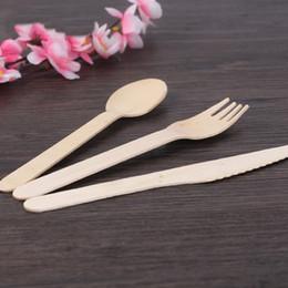 forchette cucchiai monouso Sconti Originalità in legno manico lungo cucchiaio da tavola usa e getta cucchiaio forchetta cucchiaio da dessert zuppa cucchiaio da tavola accessori da cucina 19 4lc gg