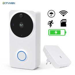 Wholesale apartment door intercom - CTVMAN Video Doorbell Door Intercom Waterproof Door Phone Wifi Baery Wireless Doorphone For Apartment Outdoor Doorbell Camera