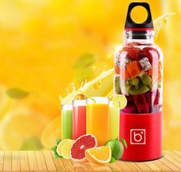 Wholesale Vegetable Juice Maker - 500ml Portable Juicer Cup USB Rechargeable Electric Automatic Bingo Vegetables Fruit Juice Maker Cup Blender Mixer Bottle
