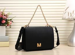 2019 paquete pequeño para el envío Nueva marca mujeres carta Messenger Bag bandolera bolso de cadena de moda mujeres pequeño bolso monedero con envío gratuito # 059 bolsas de hombro para wom paquete pequeño para el envío baratos