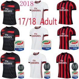 Wholesale Kaka Milan - A+++ quality 2018 AC Milan Home red away white black soccer jersey 2017 2018 CALHANOGLU ANDRE SILVA BACCA KAKA SUSO BONUCCI football shirts