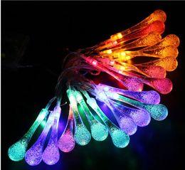 La goccia d'acqua ha portato le luci di notte online-2M 20Lights 3pcsNO.5 Batteria Led goccia d'acqua Night Lights Lampade a corda Halloween Christmas Decoration Festival String Lights