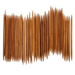 2019 agulhas de bambu tricô 55 Pcs Agulhas De Tricô Agulhas De Tricô Agulhas de Algodão de Pontas Duplas Agulha de Cachecol Agulha de Tricô Costura Acessórios de Tecer desconto agulhas de bambu tricô