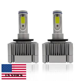 Wholesale D3s Bulb - Car LED Headlight Integrated T2 D1S D3S High Beam Fog Light Bulbs kits lip Chips Adjustable Beam Pattern 60W 9200L M0009