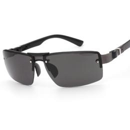 Sábanas de plástico online-Nuevo Estilo Moda Hoja de Copia sin marco Sapo Gafas de Sol Material de Aleación de Plástico Protección UV Gafas Hombres Aptos Venta Caliente 3 5fl ff