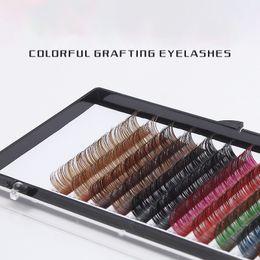49920644ff7 China Mink False Eyelash Extension Rainbow Colored Mink C Curl Lashes  Individual Natural Semi Permanent EyeLashes