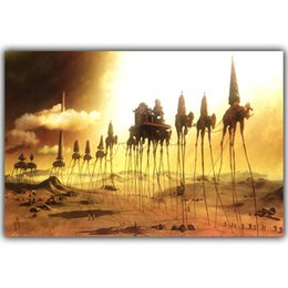 Wholesale Abstract Photo Art - Salvador Dali Surrealism Abstract Painting Elephant Art Vintage Posters Photos Home decoration Silk 12x18 20x30 inches HH141