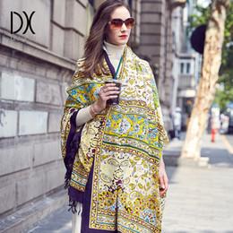 100% laine foulards carrés femmes élégante lady carf et chaud châle longue  impression animale étoles bandana écharpe hijab plage couverture 8d6f91fec168