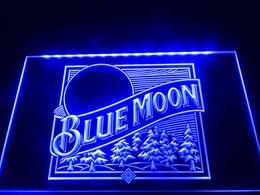 Wholesale Neon Lights Logo - LE167b- Blue Moon Beer Bar Pub Logo Neon Light Sign