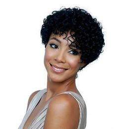 Siyah kadınlar için kısa Derin dalga peruk ucuz Brezilyalı Peri Kesim Brezilyalı İnsan saç 100% İnsan saç peruk yeni peruk nereden
