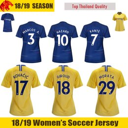 18 19 HAZARD Womens Jersey 2018 2019 GIROUD BATSHUAYI Womens Soccer Jerseys  MORATA Woman Football Shirt WILLIAN PEDRO Ladies Jersey supplier womens  football ... 54cfe8dd12
