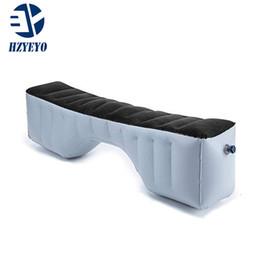 tiras de acabamento em cromo interior Desconto HZYEYO Inflável Car Cama Colchão de Acampamento Ao Ar Livre Assento Traseiro Durável Auto Almofada para o Carro de Viagem cama de Ar 130 * 27 * 33 cm, T-2150