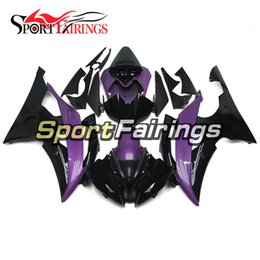 black purple motorcycle fairings Coupons - Full Fairing Kit For Yamaha YZF600 R6 YZF-R6 2008 - 2016 09 12 13 14 15 Injection ABS Plastic Motorcycle Bodywork gloss Purple Black