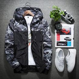 Wholesale waterproof jacket 5xl - Spring Autumn Mens Casual Camouflage Hoodie Jacket Men Waterproof Clothes Men's Windbreaker Coat Male Outwear 5XL 2018