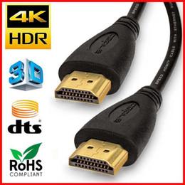 cabo ethernet livre Desconto 1 M 2 M 3 M Cabo HDMI para HDMI 2.0 4 K de Alta Velocidade de Suporte 3D 1080 p Cabo de Retorno de Áudio Ethernet para HDTV Projetor HDMI Splitter Frete Grátis