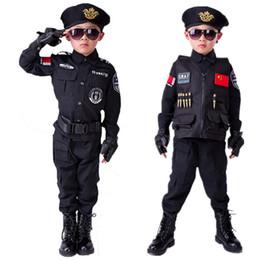 uniformes del ejército Rebajas Niños Niños Uniforme Niños Cosplay hombres Disfraces Uniforme especial de ejército Kindergarten Performance Clothing Set