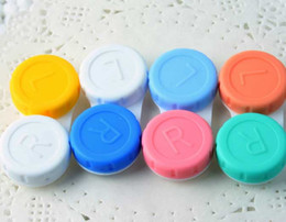 Wholesale Colorful Contact Cases - Contact Lenses Box Colorful Contact Lens Case for Eyes travel Kit Holder Container free shipping