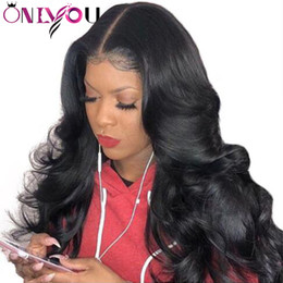 elastic lace wig Promo Codes - Deep Wave Lace Front Wigs and Lace Human Hair Wigs Pre Plucked For Black Women Straight Body Wave Kinky Curly Virgin Brazilian Hair